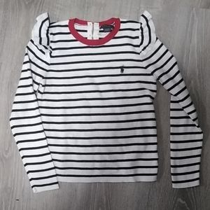 Polo Ralph Lauren striped flutter sleeve sweater 8